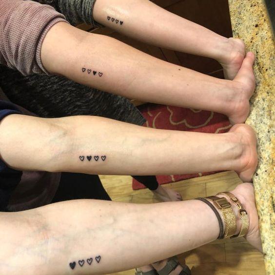 super cute sister tattoos;unique sister tattoos for 3 matching;sister tattoos for 2 meaningful #sistertattoos
