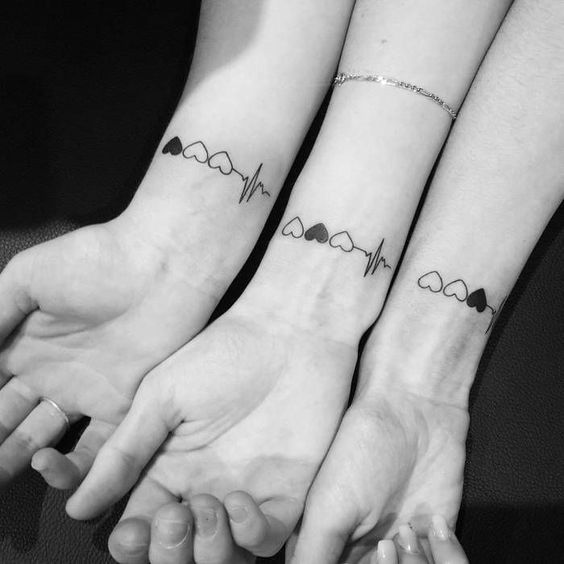 super cute sister tattoos;unique sister tattoos for 3 matching;sister tattoos for 2 meaningful #sistertattoos