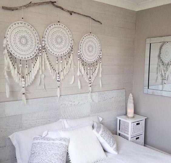 DIY Dream Catchers Decor Your bedroom; Home decor boho style; how to make a dream catchers; DIY wall decor ideas