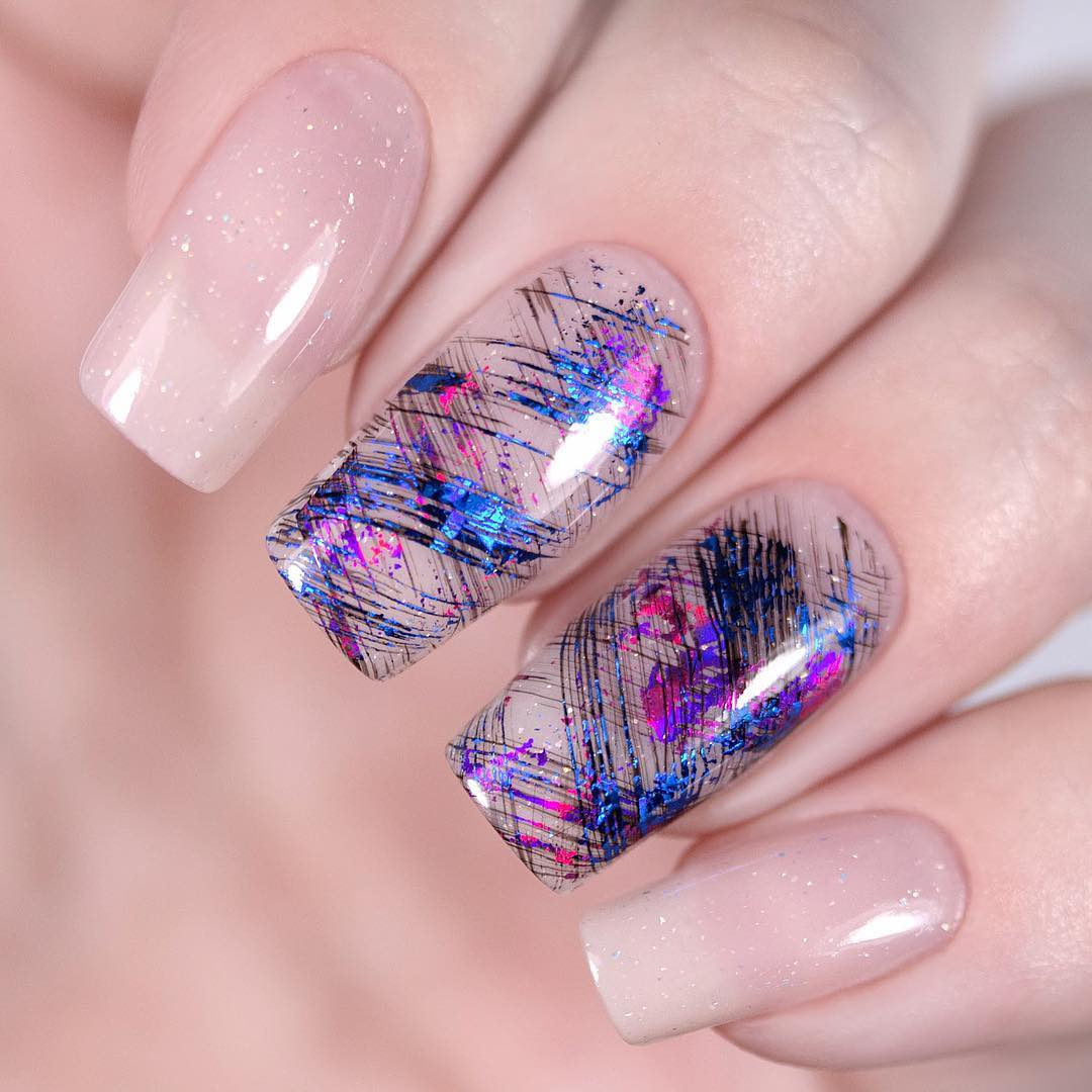 square acrylic nails; spring nails; white nails; pink nails; acrylic nails; square nails; square acrylic nails designs; pink nails with glitter accent; short nails; #nailsdesign