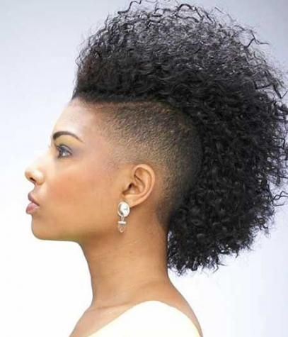 Curly Mohawk Hairstyles For Women