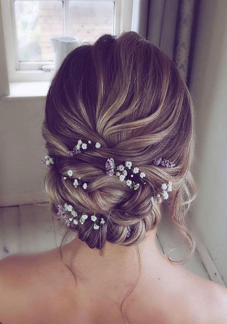 Elegant Prom Updo Wedding Hairstyles for Medium length Hair and Long Hair; Trending wedding hairstyles in 2019; updos;