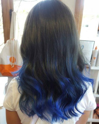 blue ombre hair color trend in 2019,trendy hairstyles and colors 2019,blue ombre hair,#haircolor #blueombrehair