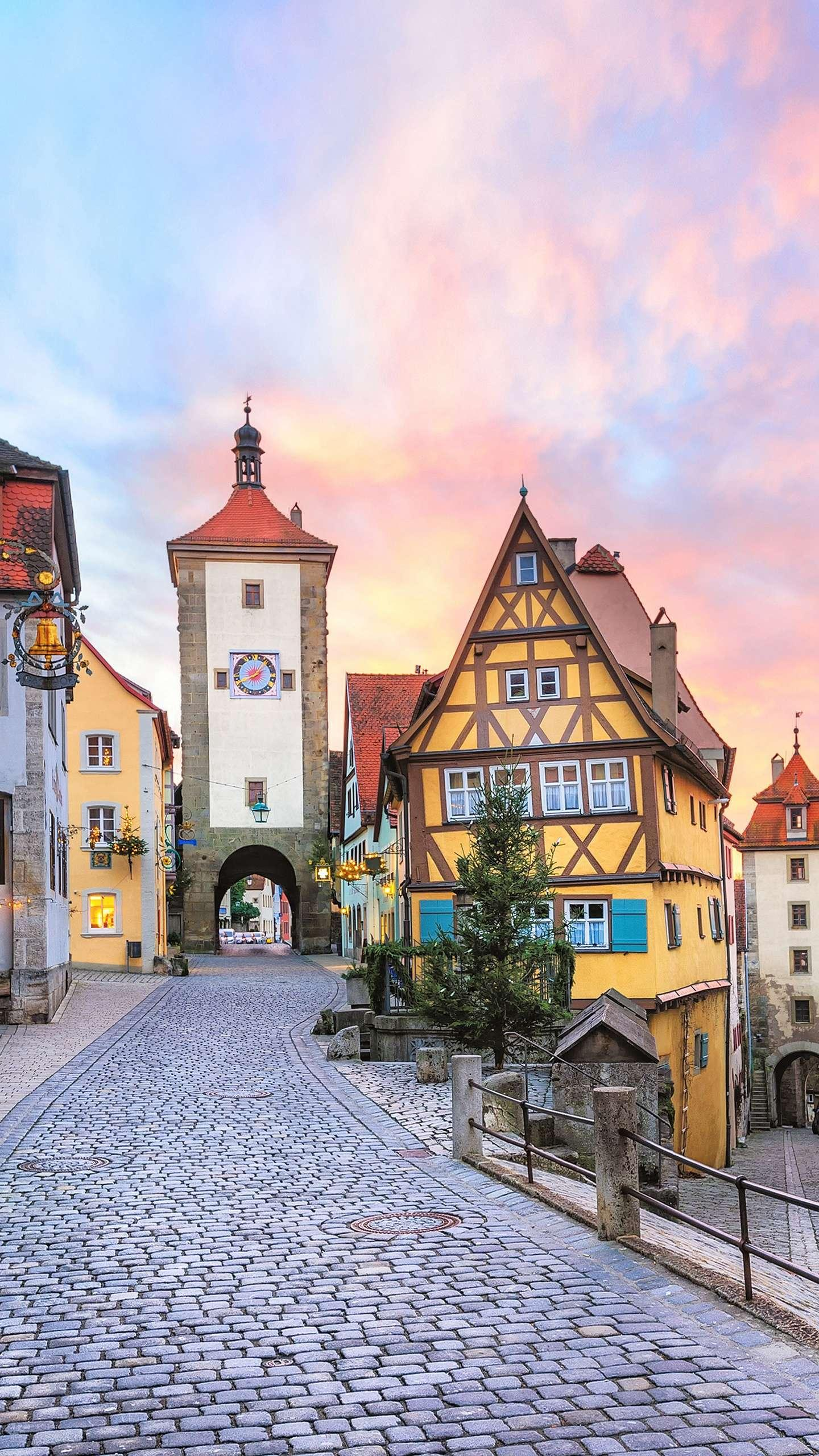 "Germany - Rothenburg. One of the most famous towns in Bavaria, Germany, has the reputation of the ""Pearl of the Middle Ages""."