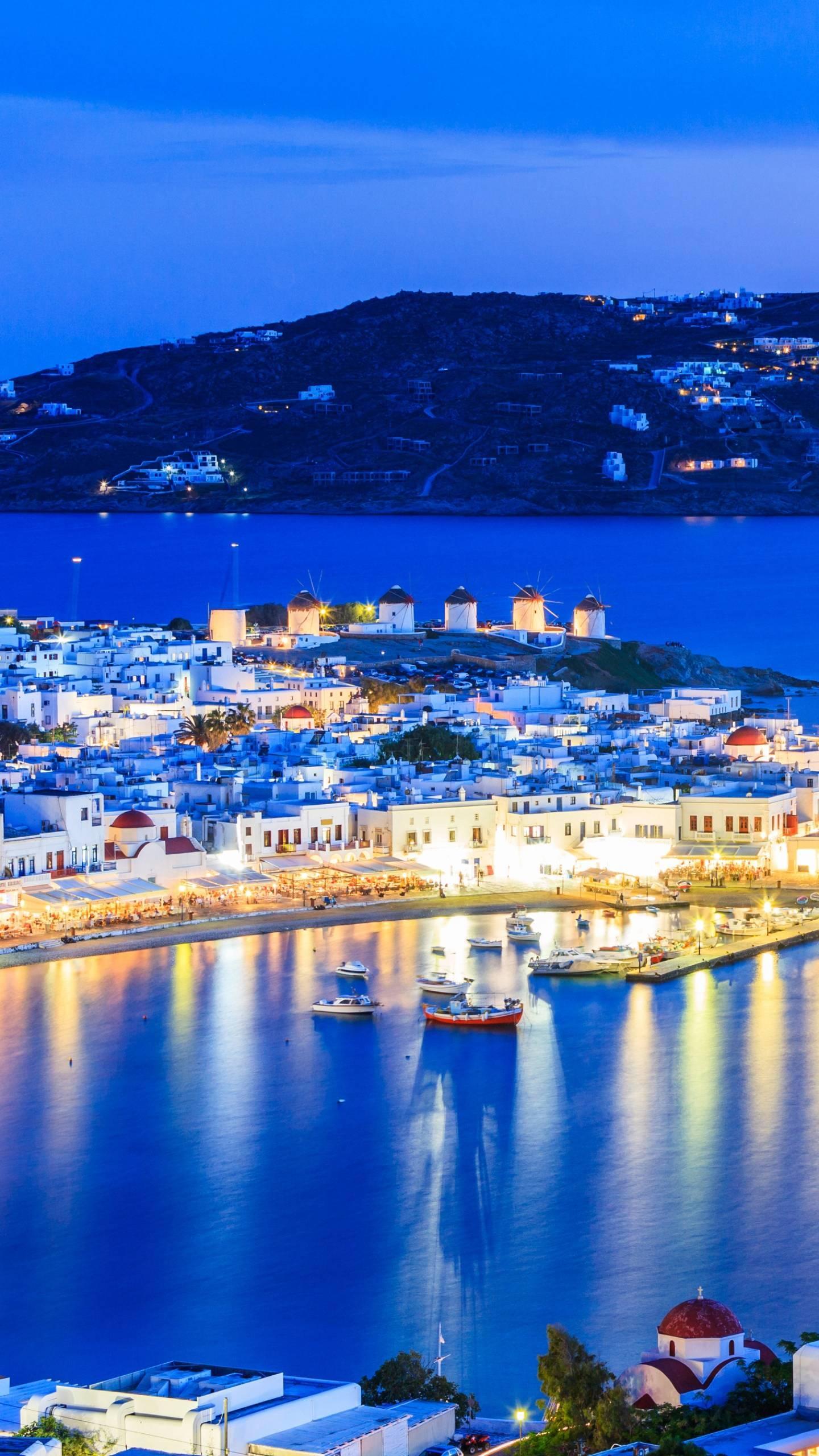 Greece - Mykonos. The scenery of Mykonos is beautiful, like a bright pearl on the Aegean Sea.