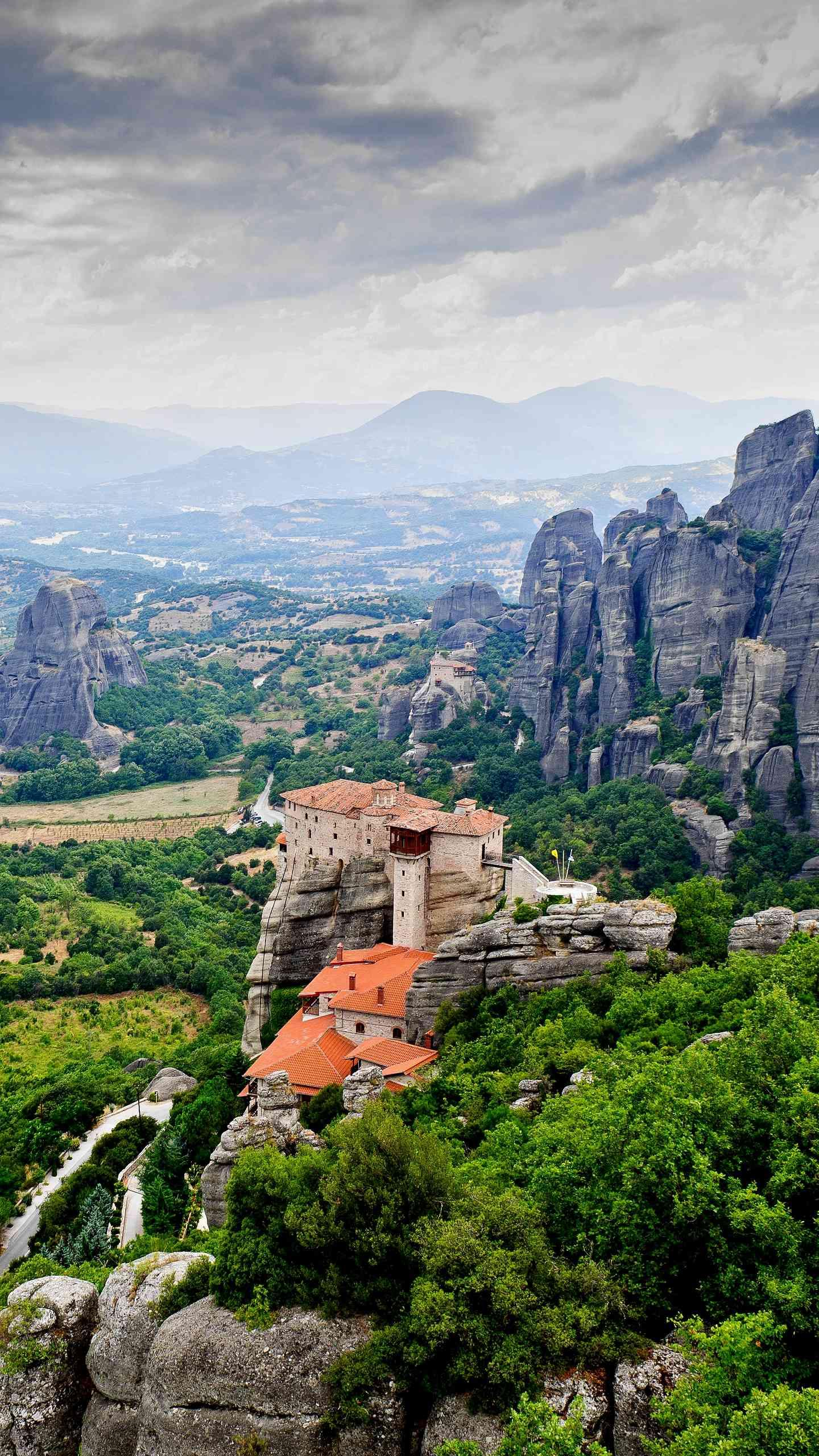 "City of the Sky - Meteora. Meteora is known as the ""playground of the gods of Olympia."""