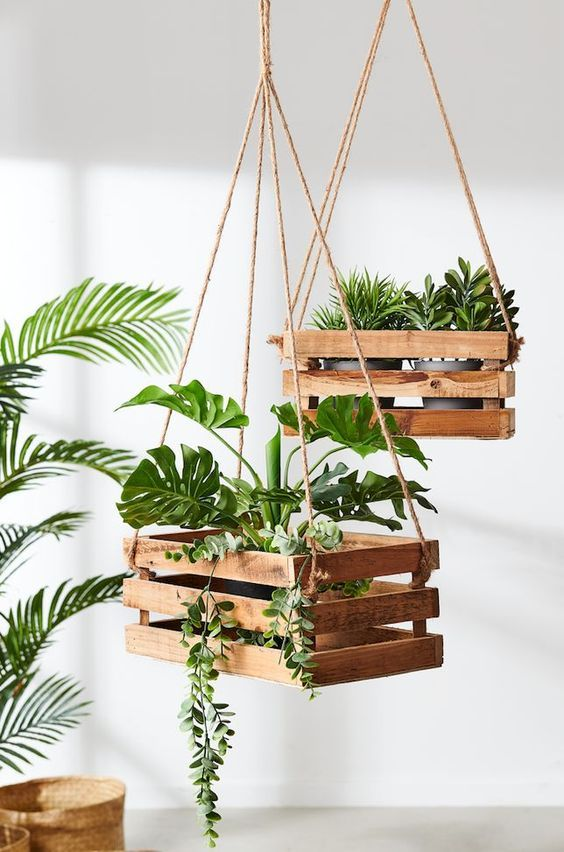 On A Budget DIY Projects Pallet Garden Design Ideas,indoor jungle,Small Spaces Garden ideas,Plant shelf,Green home,plant decor,indoor garden herb,plant wall,home garden,home design ideas,vertical garden.