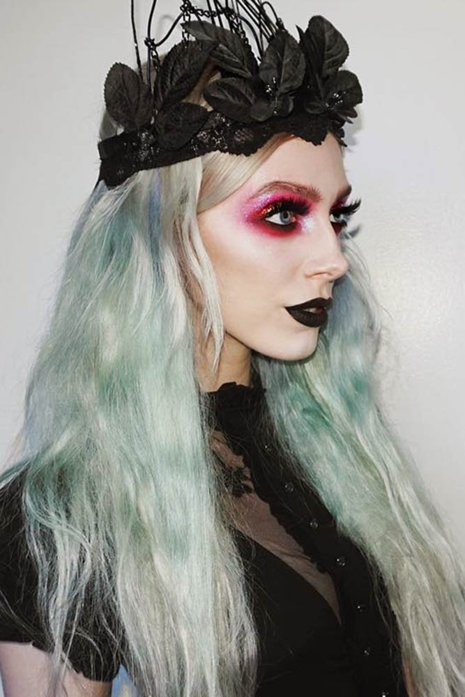 2019 Halloween Hair Colors Match for Halloween Makeup Ideas, Halloween Hairstyles, Halloween makeup, Ombre hair colors