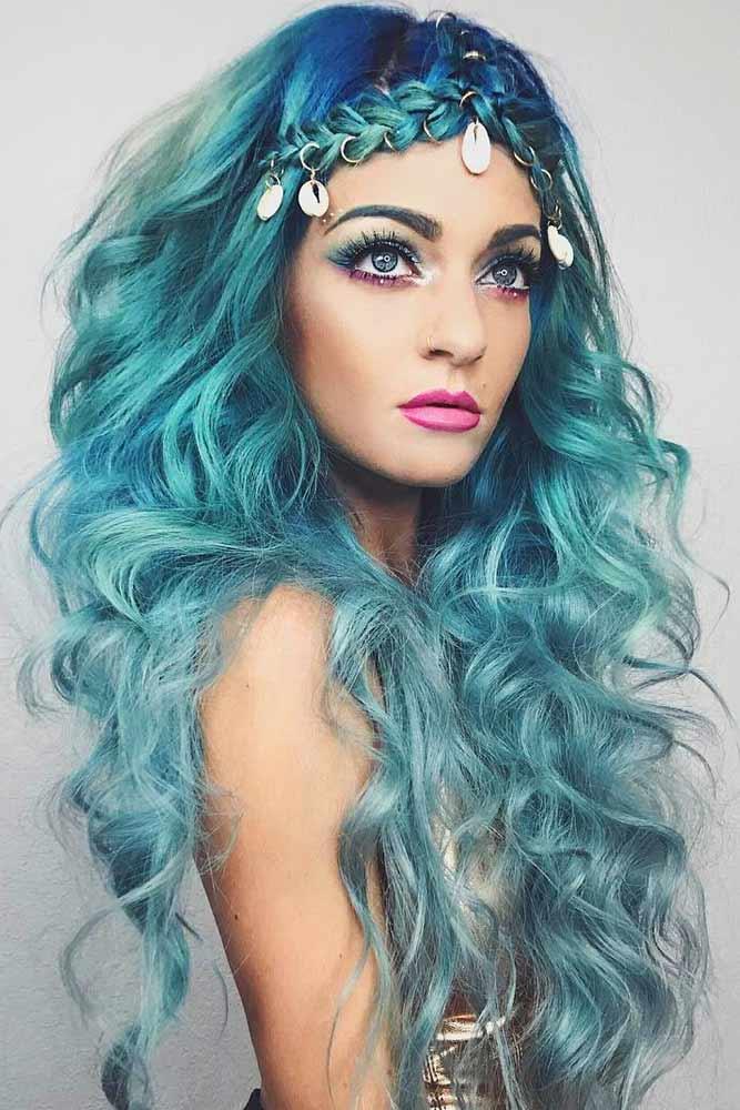 2019 Halloween Hair Colors Match for Halloween Makeup Ideas, Halloween Hairstyles, Halloween makeup, Ombre hair colors