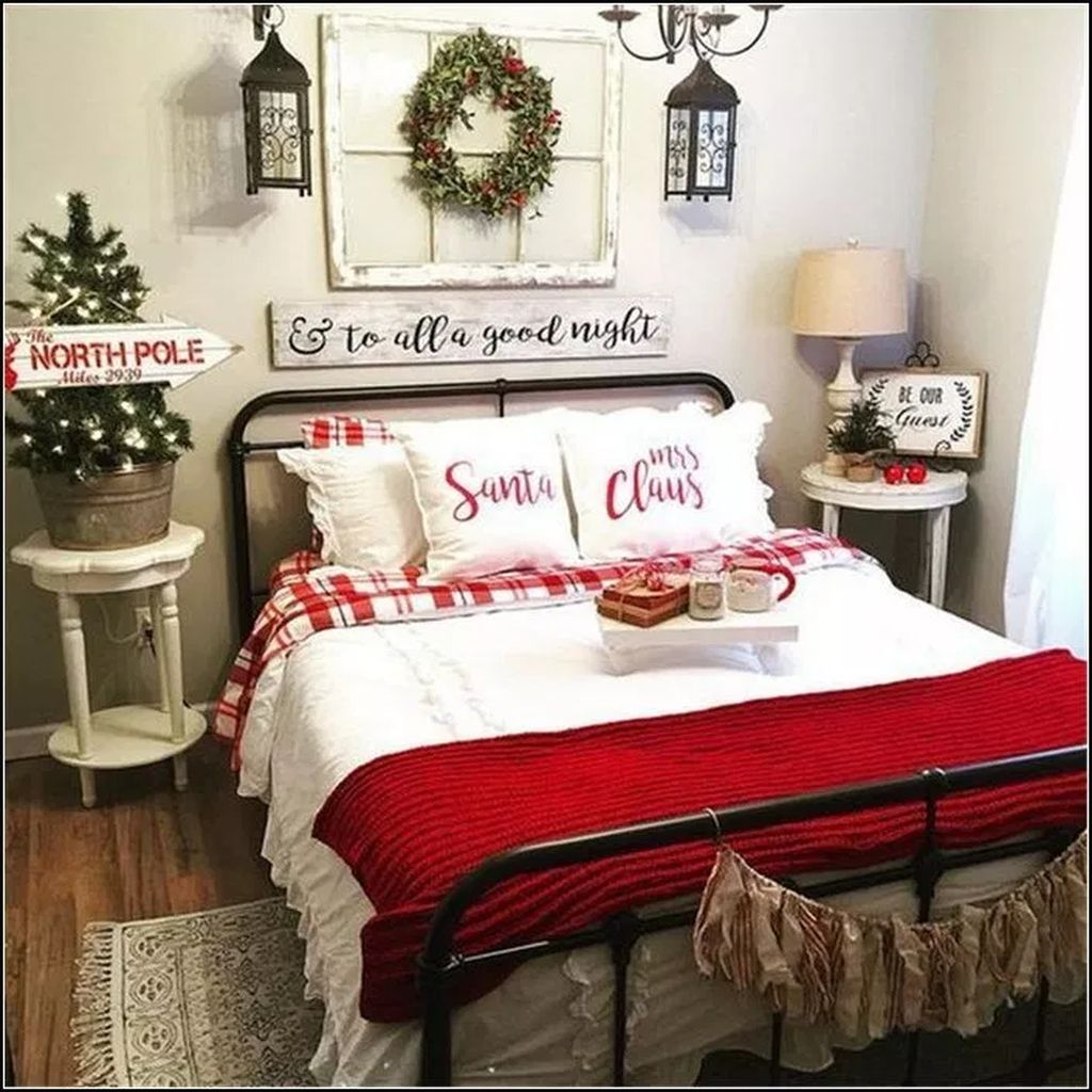 39 Trendy Cozy Christmas Bedroom Decorating Ideas
