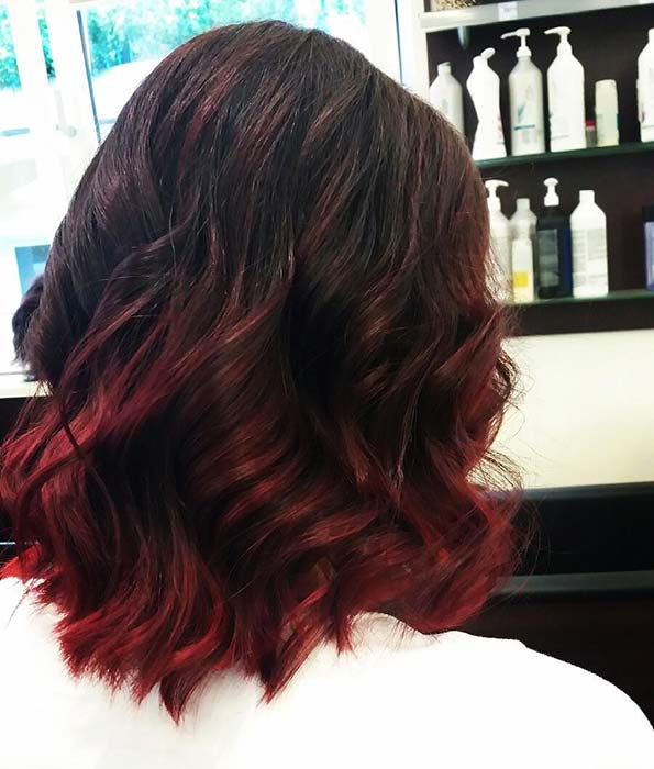 short ombre hair color trends 2019, short haircuts ideas, ombre color, hair styles