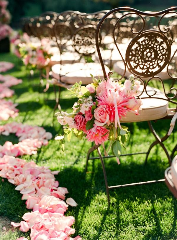 Sensational Ways to Dress Up Your Wedding Chairs, wedding chairs decor ideas, wedding chairs inspiration, chic and fabulous wedding flowers #wedding ideas