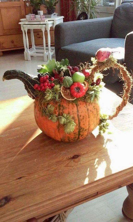 Best Pumpkin Decorating With Succulent, pumpkins vase, orange place mats, natural table decor, flower arrangements, Thanksgiving Decor Ideas